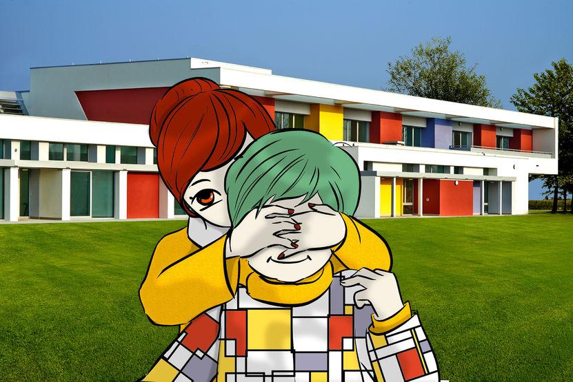 Una scuola di natura, luce, colori